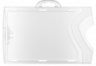 PORTE BADGE HORIZONTAL TRANSPARENT -CRISTAL DEPOLI - BTE DE 100