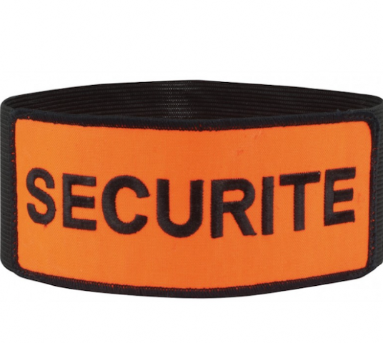 BRASSARD SECURITE VELCRO